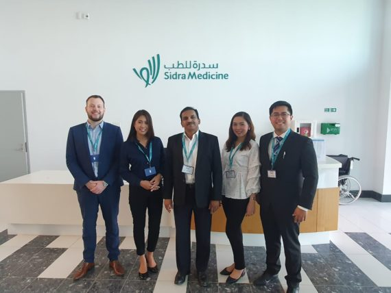 Sales team members in Qatar
