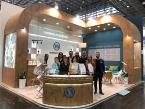 Optimum Medical team stood on Medica exhibition stand