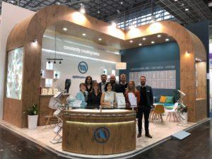 Optimum Medical team stood on Medica exhibition stand